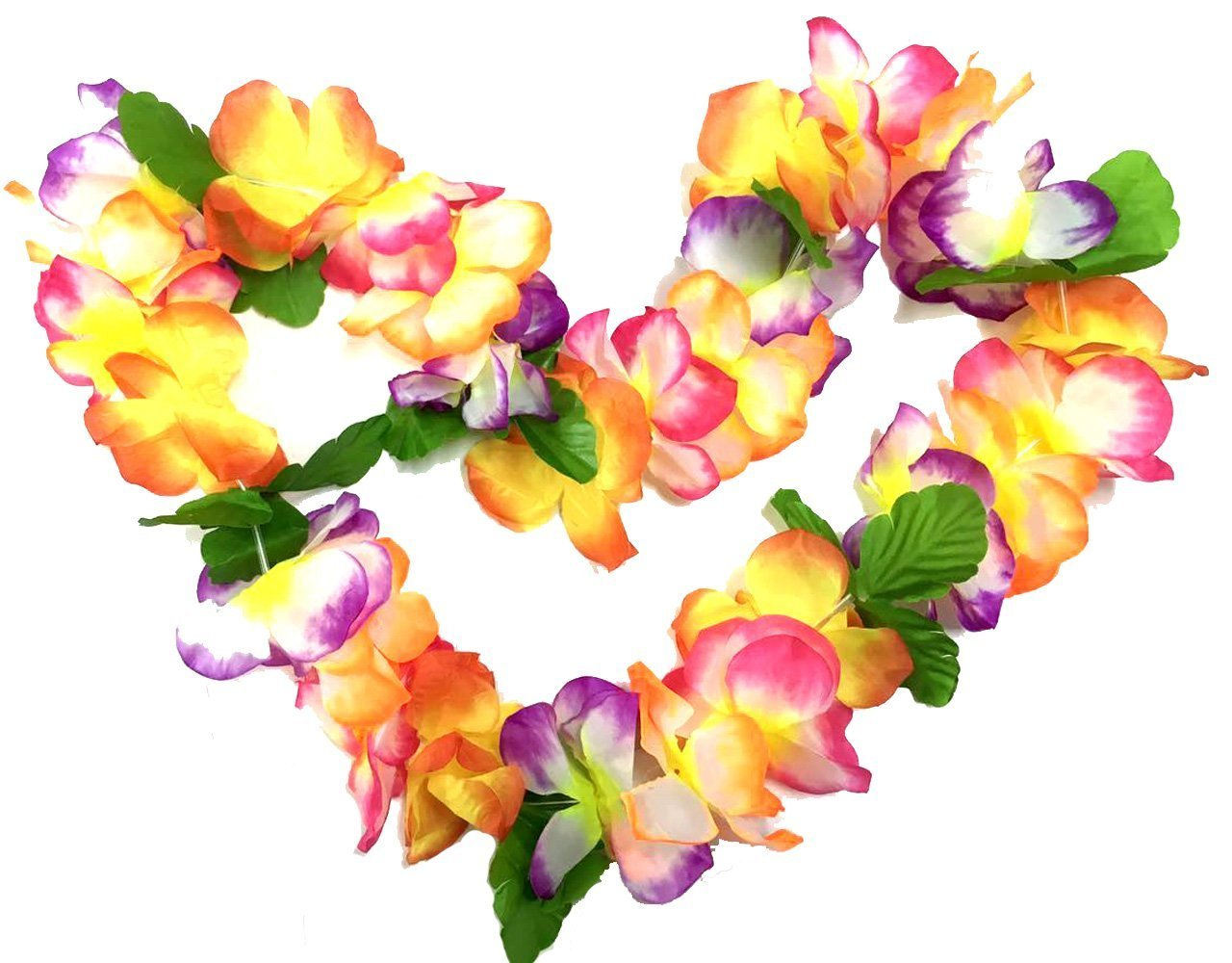 Buy Bosheng Hawaiian Colorful Flower Leis Necklaces For Party Event