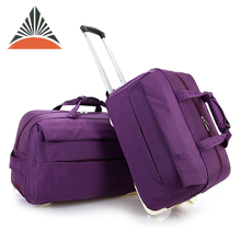 New Women Men Multi Color Luggage Rolling Trolley Travel Bag For Sale