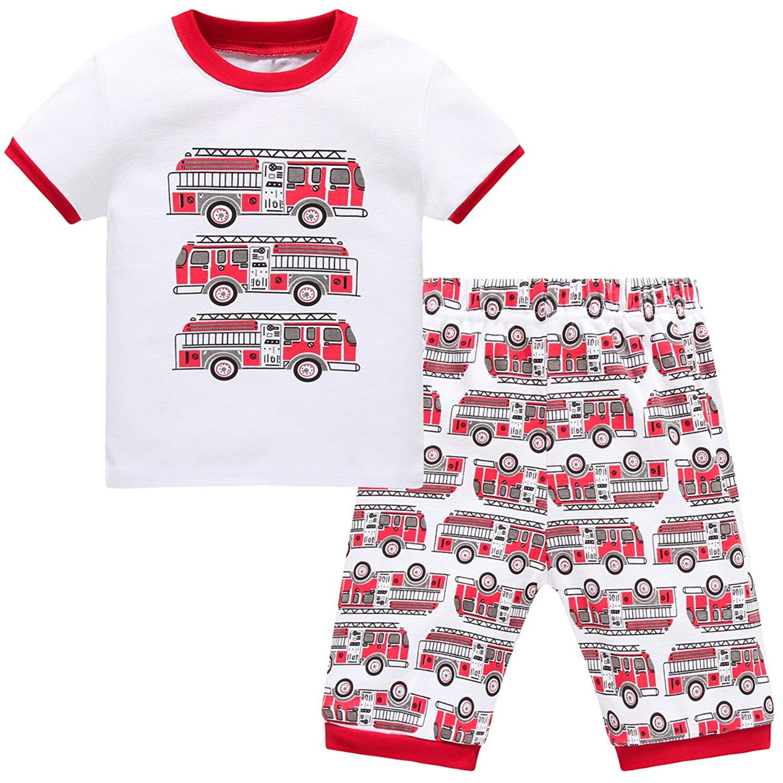 Schmoopy Toddler Boys Trucks Pajamas 2-7 Years