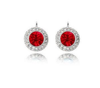 High-end earrings earrings import crystal earrings, moon river contracted female personality earring ornaments pn8179
