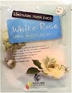 Naisture 15 Min. Collagen Essence Facial Mask Sheet Pack - White Rose 10pk (e 23ml)