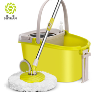 2019 Hot selling cleaning product 360 degree magic with wheel and bathtub mop