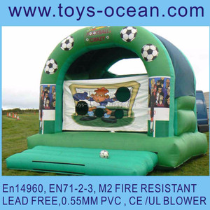 inflatable football bouncer , inflatable soccer bouncer house,inflatable shooter jumping castle