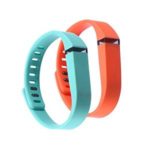 Sezee WristBand Large 1 Park Teal 1 Park Orange Band for Fitbit FLEX Only With Clasps Replacement /No tracker/ - 2 park in package replacement wrist band for fitbit flex