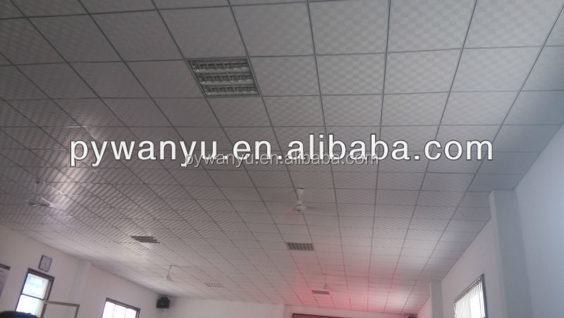 PVC laminated gypsum ceiling tiles for ceiling