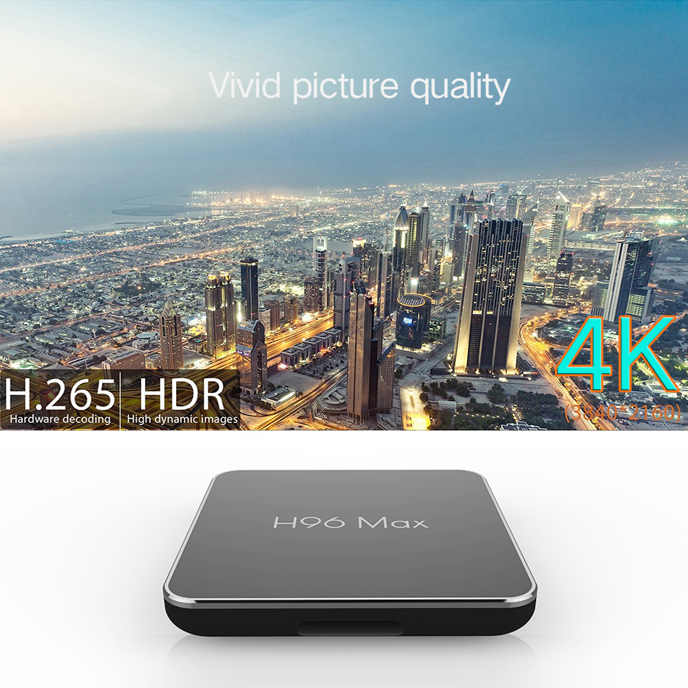 Di vendita caldo H96 Max X2 Smart tv boX amlogic s905x2 2/16 gb internet set top box dual wifi ott box