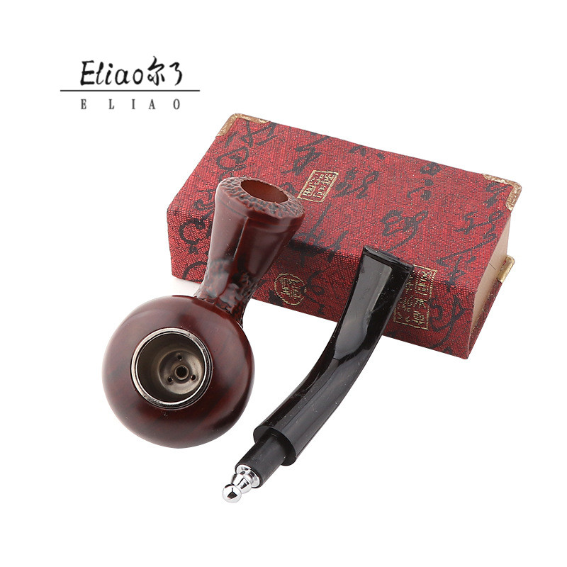 Yiwu Erliao new high quality wooden pipe custom logo smoking pipe tobacco