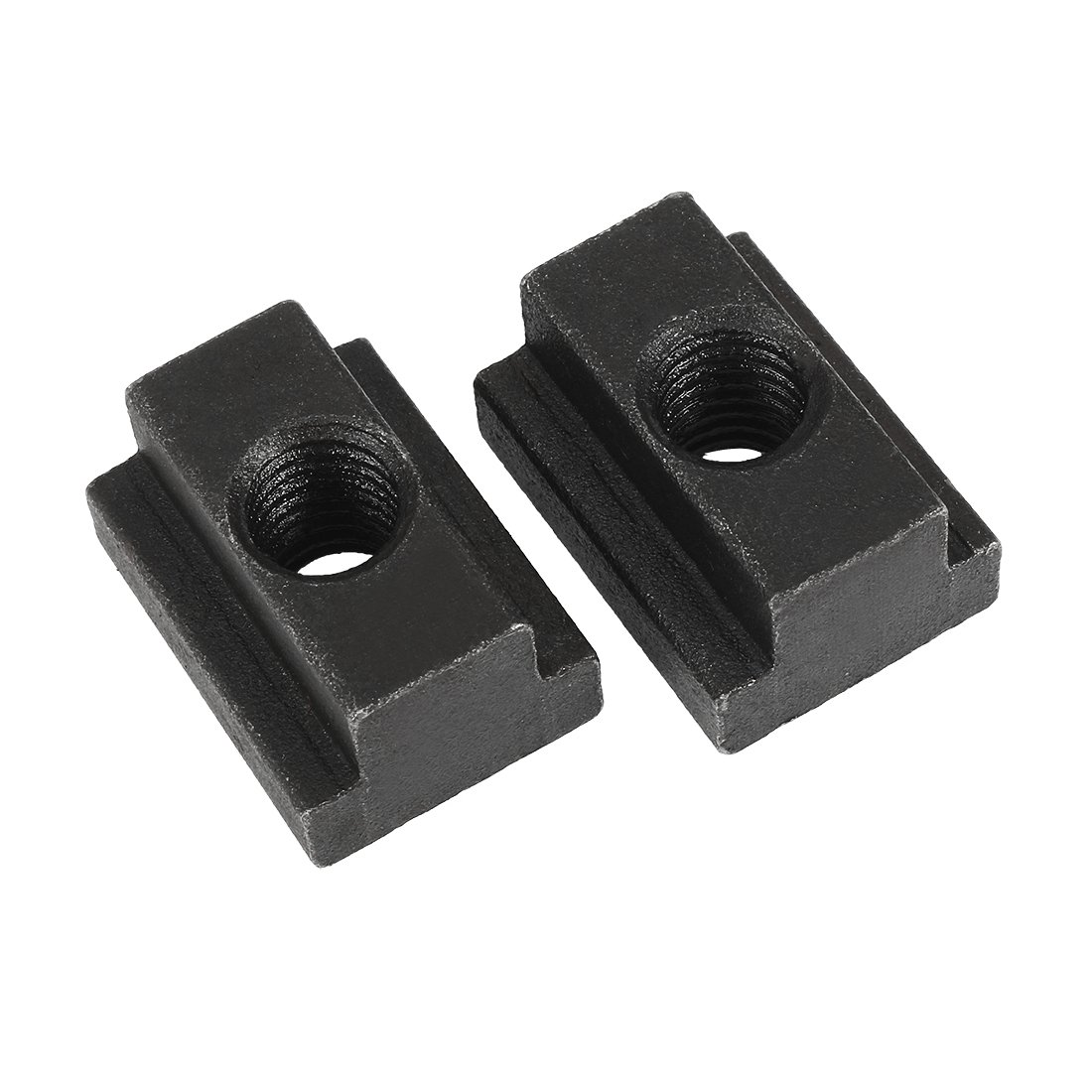 uxcell M8 Female Thread Steel T-Slot Nut Grade 12.9 Tapped Through 2pcs