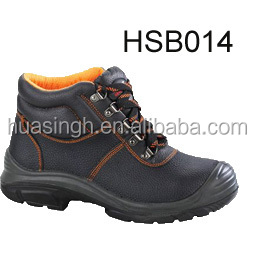 PU injection construction steel insert safety leather work boot for protective