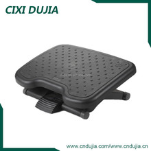 Cixi Dujia Ergonomic office adjustable portable TRP surface massage F6035 plastic folding footrest