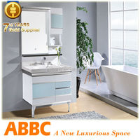 simple bathroom mirrored corner cabinet A-263A