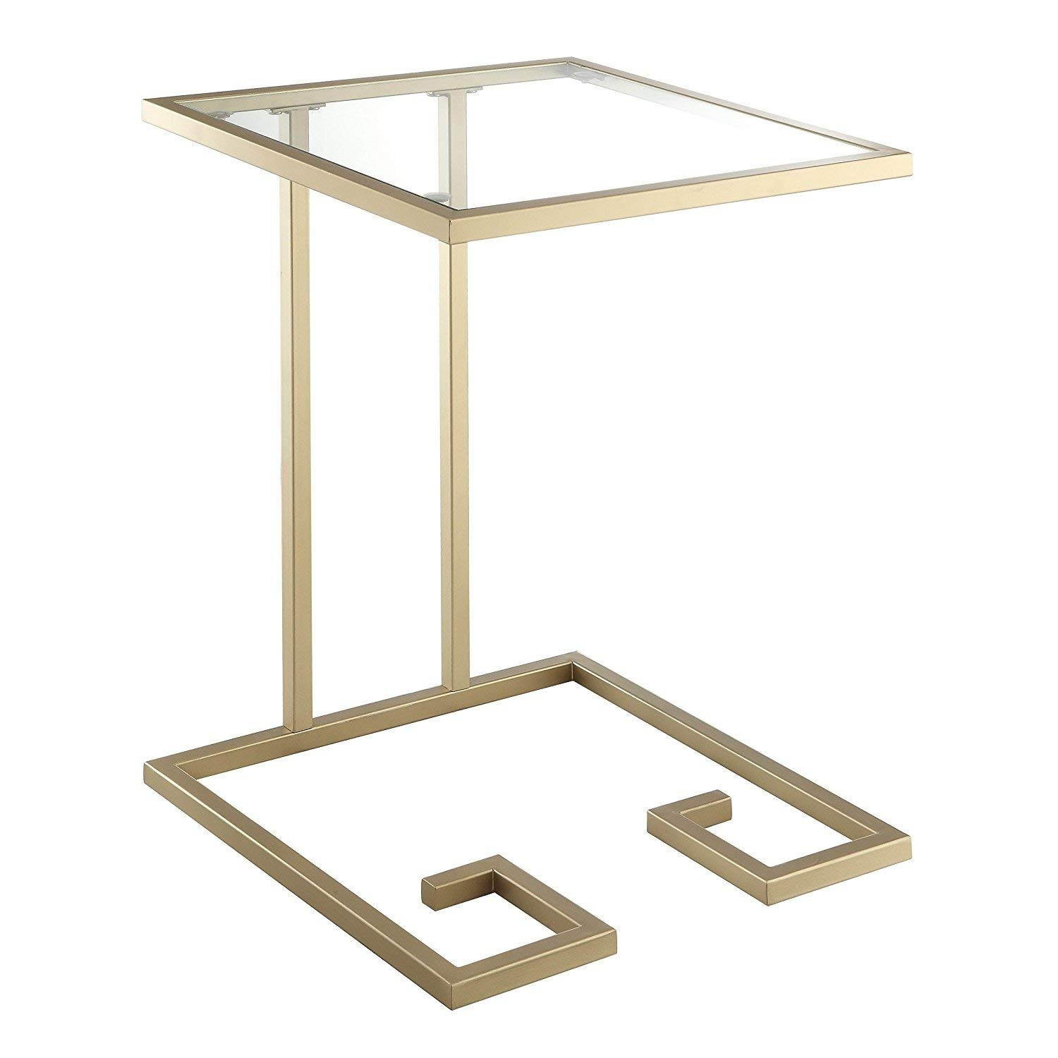 Indoor Multi-Function Accent Table Study Computer Home Office Desk Bedroom Living Room Modern Style End Table Sofa Side Table Coffee Table Gold accent table