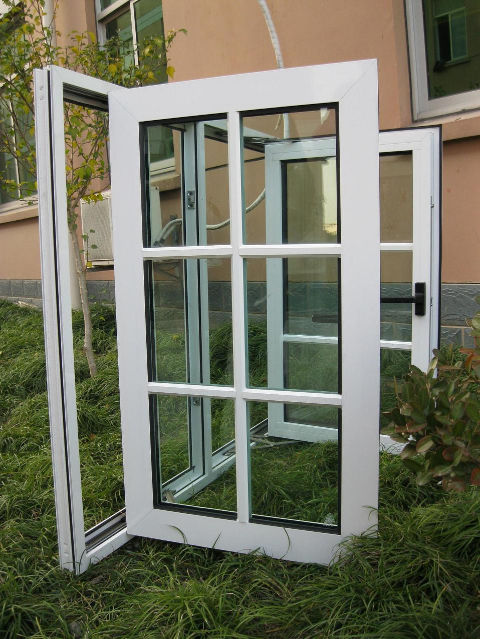 Window grill design and color - Modern Black Color Aluminum Frame Window Grill Design