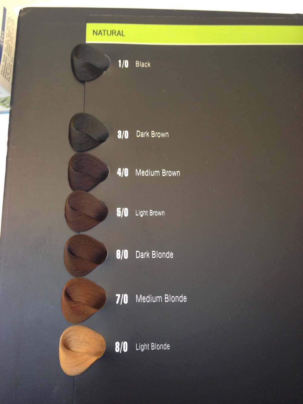 Oem Salon Hair Color Chart Hair Color Swatch Book - Buy Hair Color ...