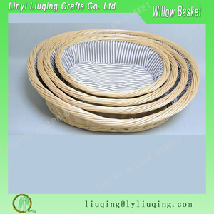 Factory wholesale natural willow wicker pet basket dog bed
