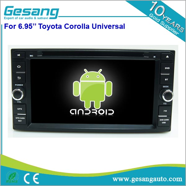 6.95 inch touch screen car audio head unit android 6.0 universal car dvd player for <strong>Toyota</strong> <strong>Corolla</strong>