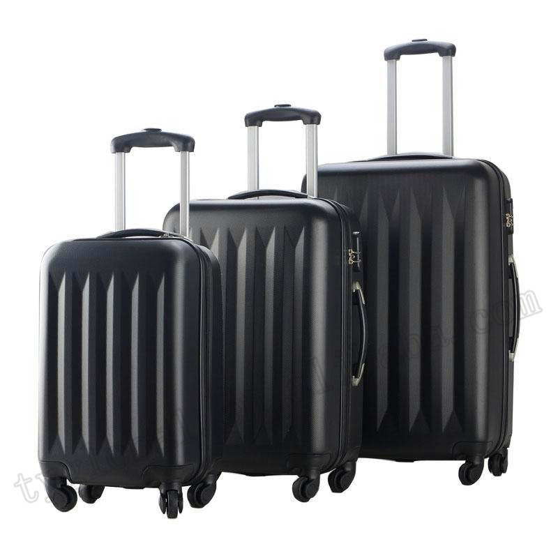 New 3 Pcs Luggage Travel Set Bag ABS Trolley high quality trolley Suitcase