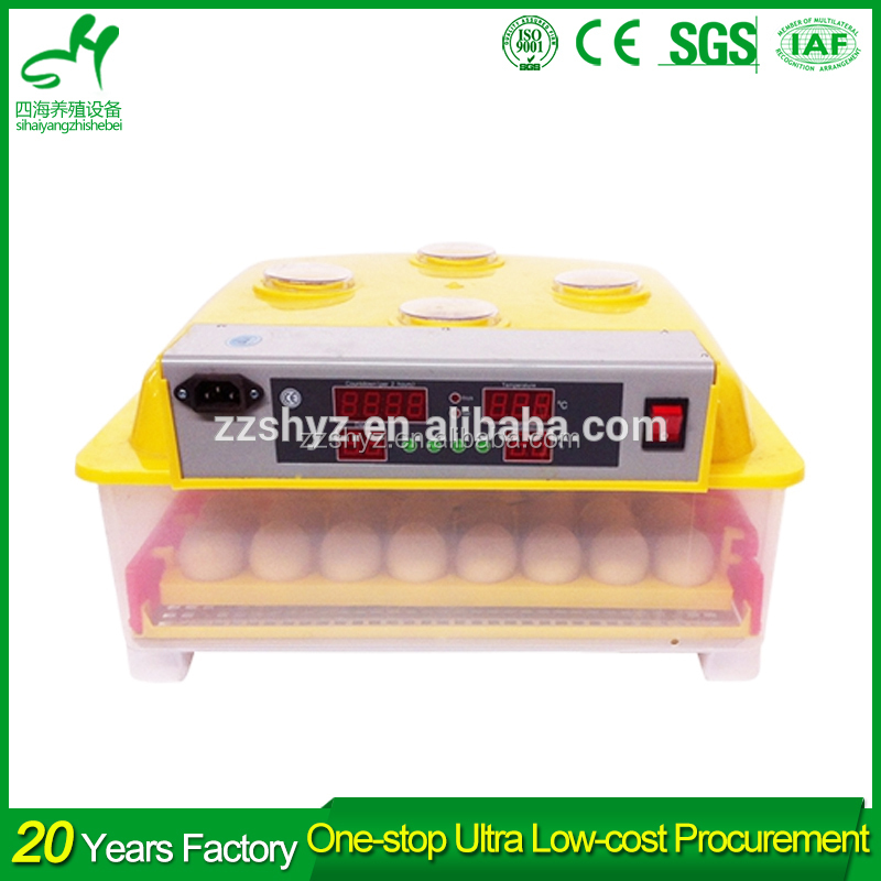 Mini plastic full-auto egg hatchery / chicken egg incubator / chicken breeding machine