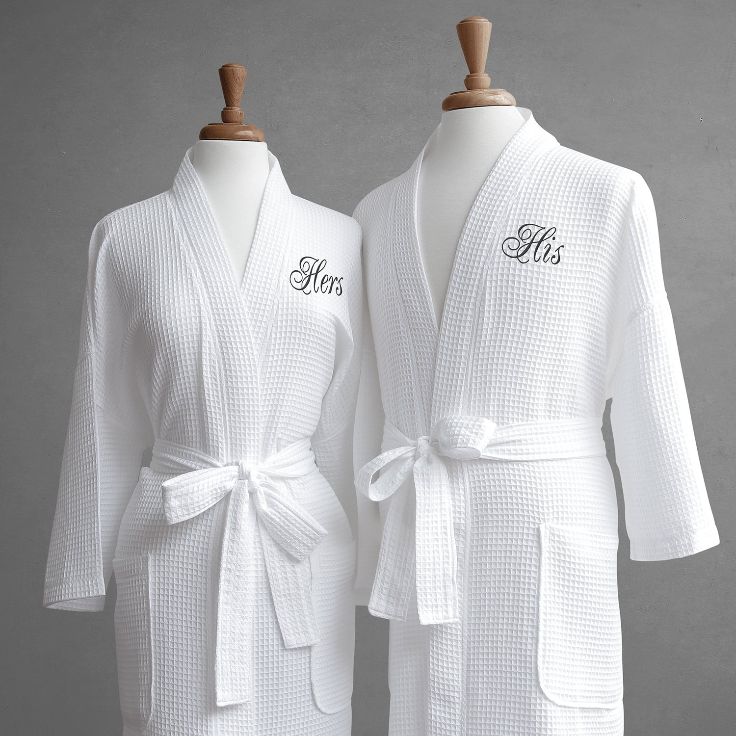 2c01d54c75 Luxor Linens Egyptian Cotton His   Hers Waffle Robes - Perfect Engagement  Gifts! - His   Hers with Gift Packaging