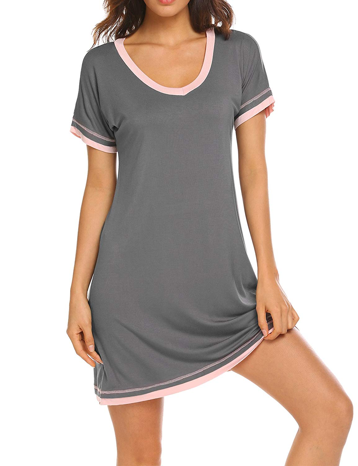 Get Quotations · Dolay Nightdress Womens Cotton Sleepwear Short Nightgowns  Knit Sleepshirts S-XXL 063923df2