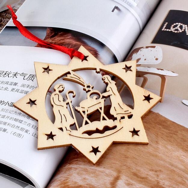 decoracion navidad adornos de madera de corte laser arbol de navidad adornos de madera hechos