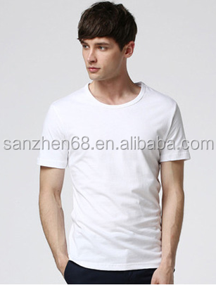 eb0f2bed93c92 Nuevo estilo barato al por mayor del verano cuello redondo camisetas  blancas para los hombres hombres