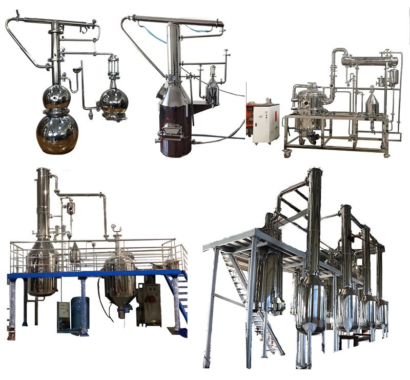 Hot sale lemongrass oil extraction machine/natural essential oil distiller
