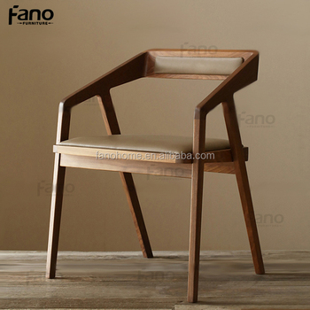 Modern Wooden Office Desk Visitor Chairs With Arms