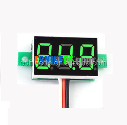Mini LED Digital Display Voltmeter DC 0-100V LED Digital Voltage Voltmeter Panel 0.36 inch Green