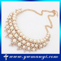 Wholesale promotion exaggerate women jewelry pearl necklace