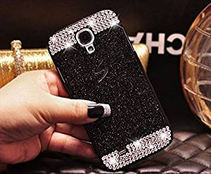 Top selling TM Samsung Galaxy S4 Case,Top Selling(TM) Luxury Bling Diamond with Crystal Rhinestone Vibrant Trendy Color Slider Style Hard pc Case for Samsung Galaxy S4 i9500 + Bonus Top Selling Logo Stylus (Bling+Black)