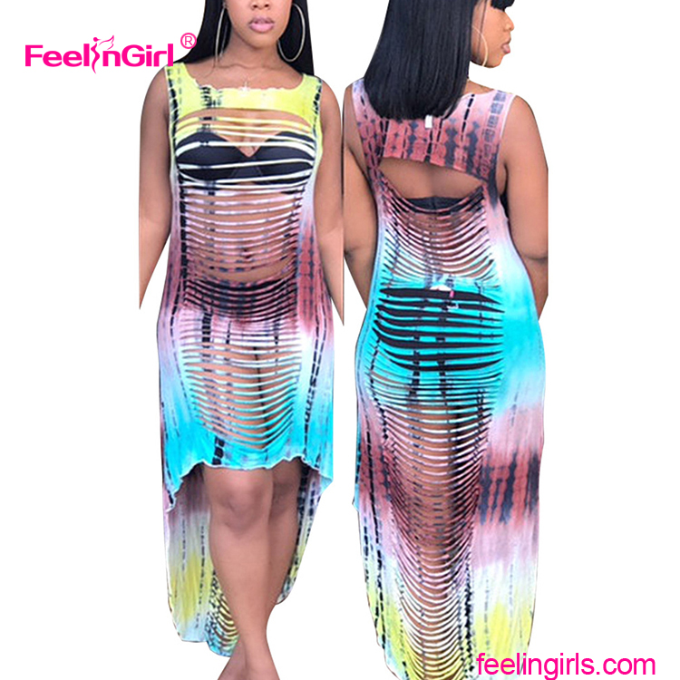 Cut Off Hole Bodycon Costume Party Wear African Dashiki Dress