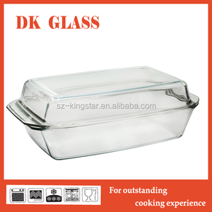 High Borosilicate Glass Cooking Pot With Cover/ Ovenproof Glass Casserole Dish For Kitchen