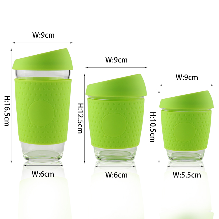 Glass Coffee Mug Perfect Coffee Cup With Silicone Sleeve Glass Thermo Insulated Premium Quality Glass Cup Set