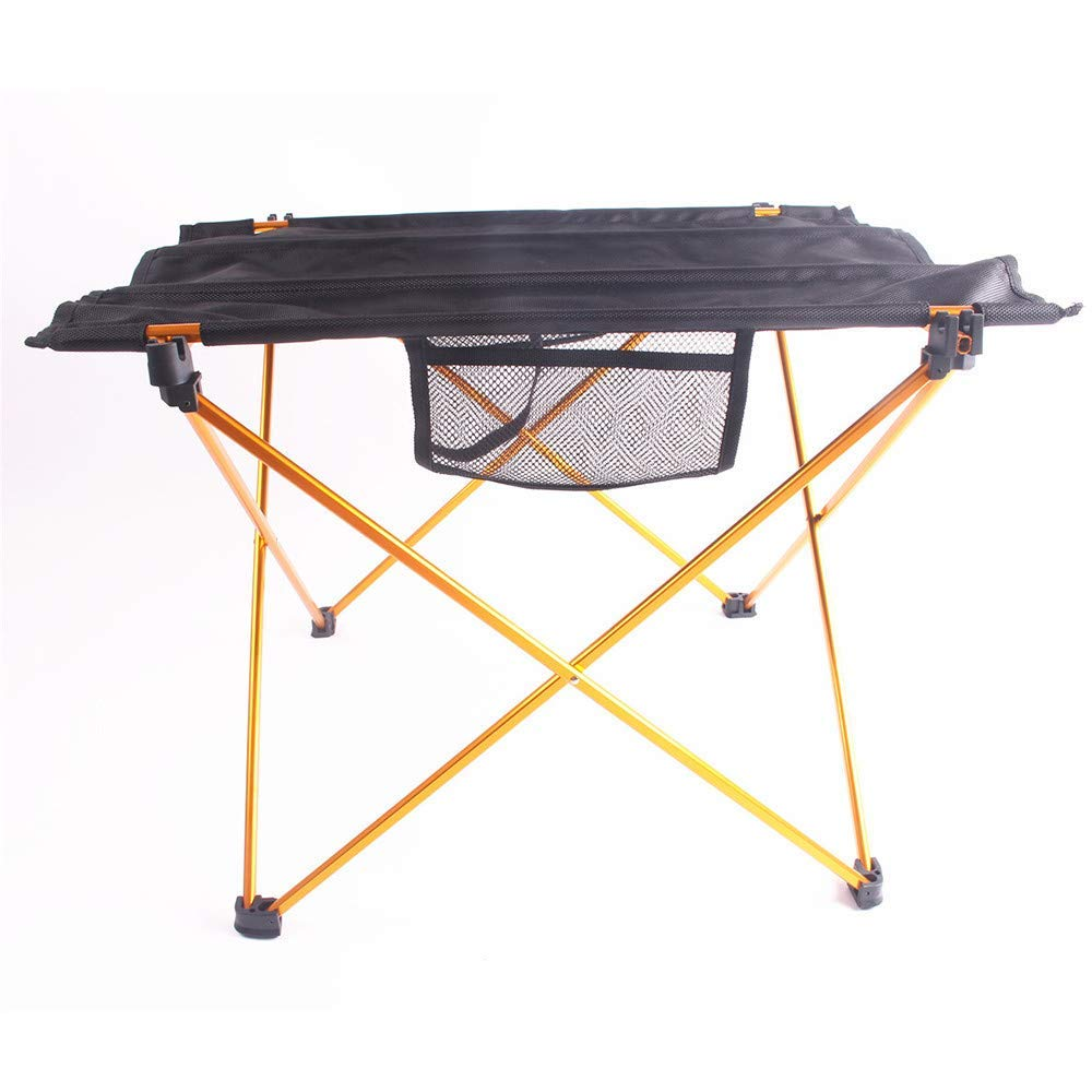 WDDH Aluminum Folding Table,Compact Roll Up Tables with Carrying Bag- Perfect for Hiking, Camping, Picnic,Beach, Outdoor