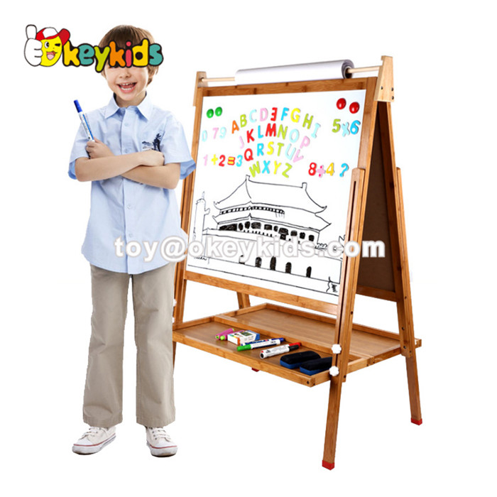 Customize educational toys wooden kids drawing board with magnetic W12B114