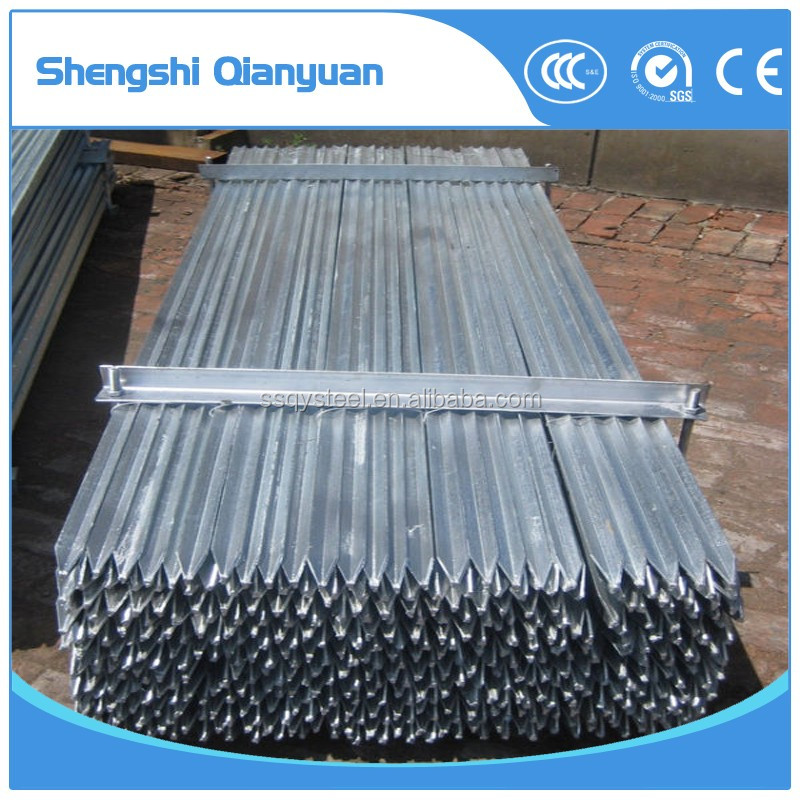 Cheap black y steel fence post star picket