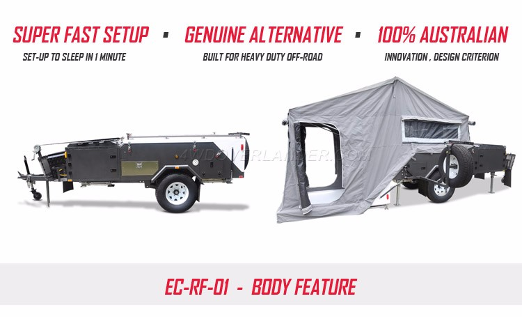 Unique High Clearance Custom Built Off Road Camper Trailer Rock Crawl Vintage