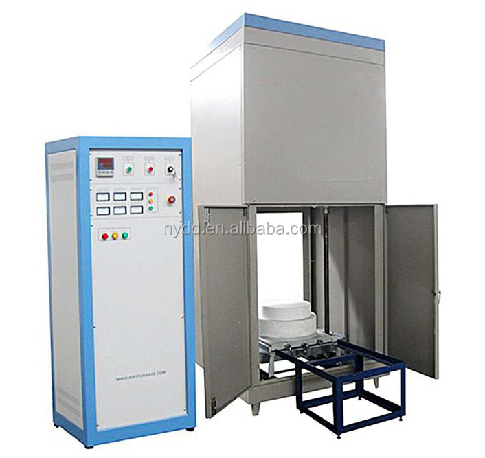 laboratory electric heat treatment ceramics kiln bottom loading furnace