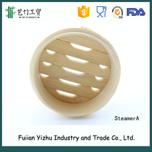natural bamboo steamer, round steamer,kichen steamer basket for steam bread,dumplings,vegetables,fish