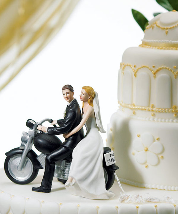 Motorcycle Cake Topper Figurine