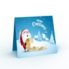 Custom design coated paper 24/48 pack merry christmas card thank you cards