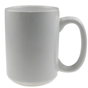 15oz White Sublimation Ceramic Mug Printed Coated Coffee Mug