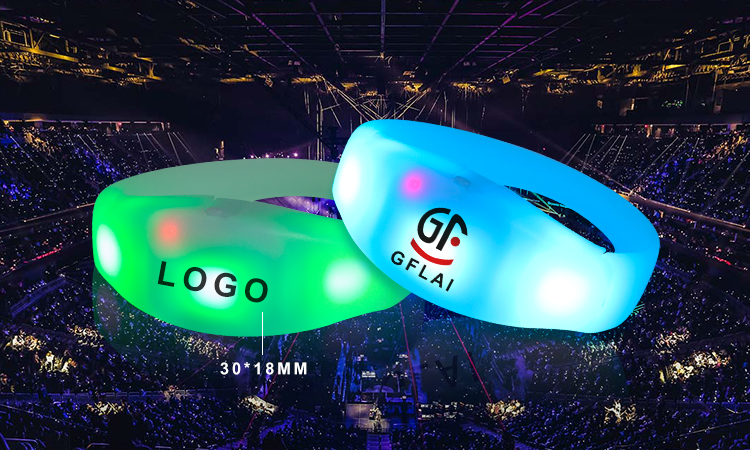Remote Controlled LED Bracelet with Logo