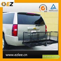bicycle luggage carrier, hitch mount cargo carrier, hitch basket