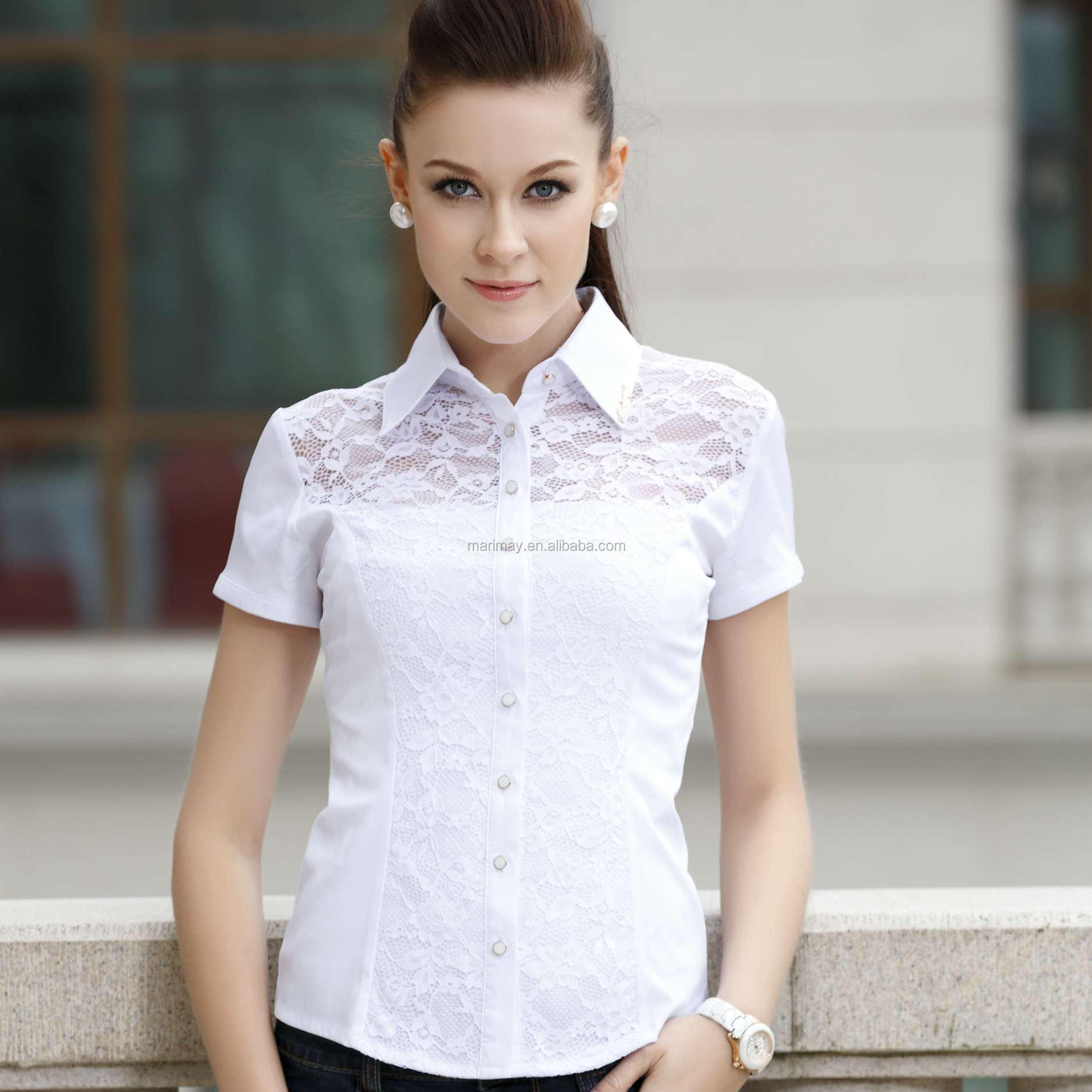 Fashion Formal Blouse For Women,Woman Wear White Lace Formal ...