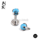 G23 Titanium Prong Set Turquoise Stone Labret Studs Piercing Jewelry