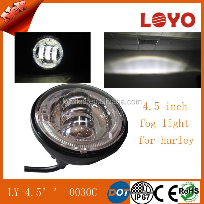 "For Harley Davidson 4.5"" fog light led 30 watt 4.5 inch motorcycle led fog light auto bike led fog light"
