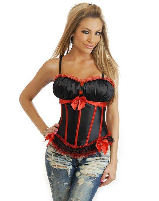 38713d12b6c Sexy Lingerie Peasant Burlesque Corset Black Women s Clothes 8126