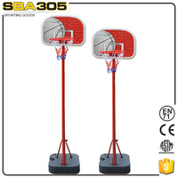 steel retractable height adjustable basketball system
